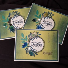 May Your Christmas Be Bright – Christmas Card Trio Green