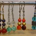 BEAD EARRINGS - 6 Pair of Bead Jewellery Earrings