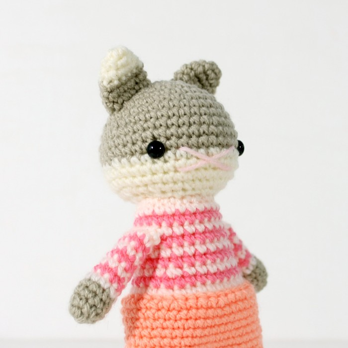 Crochet Quick Easy Beginner Cute Amigurumi Kitty Cat DIY Tutorial ... | 700x700