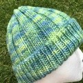 Green merino beanie, blue beanie, ladies beanie, fair trade Uruguay merino