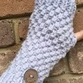 Purple lilac fingerless gloves handwarmers mittens
