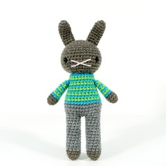 JEFFREY .. amigurumi rabbit toy, bunny rabbit, boys plush plushie stuffed