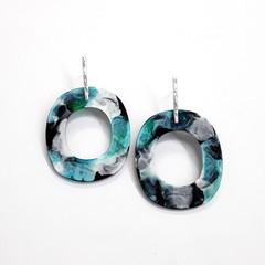 Tropical paradise resin Earrings