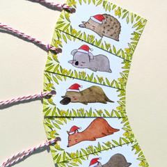 Australian Animals Christmas Gift Tags