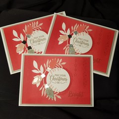 May Your Christmas Be Bright – Christmas Card Trio Red