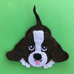 Bassett Hound Crochet Applique