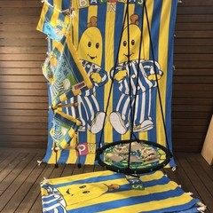Handmade Low Waste Fabric Kids Cubby Kit - Vintage Bananas in Pyjamas