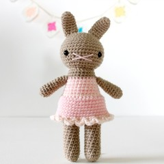 rabbit amigurumi plushie stuffed toy, christmas stocking stuffer .. MACY