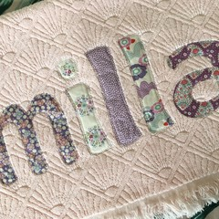 LIMITED EDITION: Pale Pink textured Personalised / Name Towel - Only 4 left!