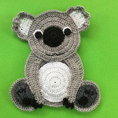 Koala Crochet Applique