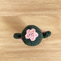 Crochet Cactus with Pink Flowers