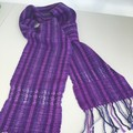 Wool Scarf, Handwoven, Hand Dyed, Violet / Lilac