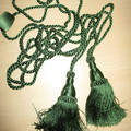 GREEN TASSELLS &  CORD - 1 PAIR