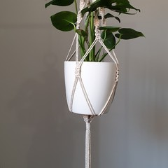 Natural Large Macrame Pot Plant Holder