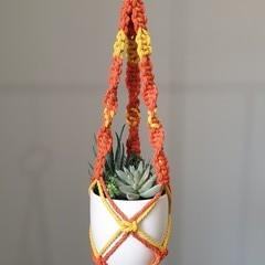 Ocher/Yellow Macrame Plant Pot Hanger