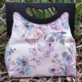 Pastel floral Wooden Handle Handbag