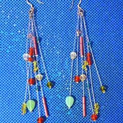 Beautiful beaded long earrings