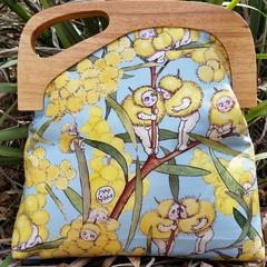 Wattle Babies Offset wooden handle Handbag