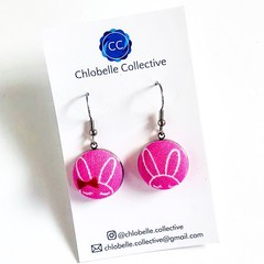Small fabric dangles - Pink Bunnies