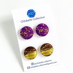 Large stud pack - purple and gold