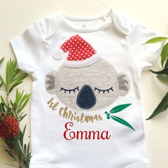 Express Post Included Christmas Koala Personalized Onesie Bodysuit