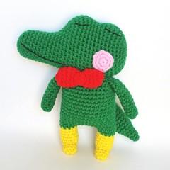 Crocodile crochet soft toy