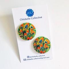 Mega stud pack - Orange peacock