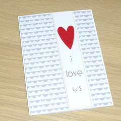 Anniversary card - I love us