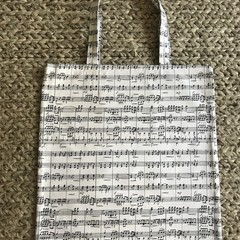 Music notes shopping bag