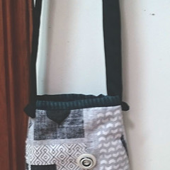 BOTTLE BAG Fully Lined with Over the Shoulder Strap