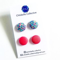 Medium stud pack - pink/blue blend