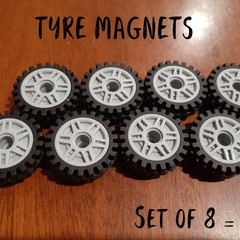 Round Brick Tyre Magnets