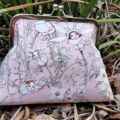 Pink Flannel Flower babies clutch
