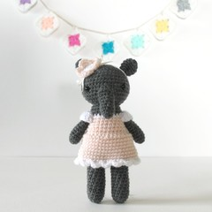 crochet animal, amigurumi doll, amigurumi elephant toy .. EVA