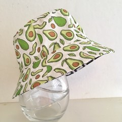 Boys summer hat in avocado fabric
