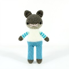 stuffed plush toy, amigurumi toy, amigurumi cat .. MARTIN