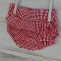 Red and white gingham frilly bloomers, ruffle nappy covers