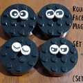 Round Brick Face Magnets