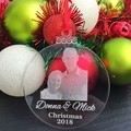 Personalised Christmas Bauble, Christmas Ornament Gift for Grandparents