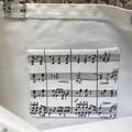 Music notes shopping bag