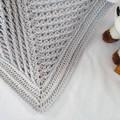 Grey Newborn Hand Crocheted Baby Blanket Afghan