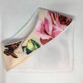 Ivory Roses Bib and Teether Set - Dribble Bib - Bandana Bib - Wooden Teething Ri