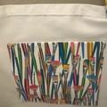 Colourful paintbrushes shopping bag