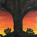 TREE NR 1  An Original Acrylic Painting on Canvas Board