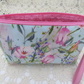 Ladies Wristlet - Evening, Day, Wedding, Race Day, Garden Party - Blue Floral