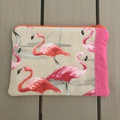Flamingos flowers purse