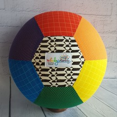 Balloon Ball: Rainbow: Dots & Dash with Black/White centre