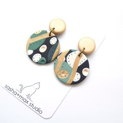 Soft Round drop polymer clay earrings