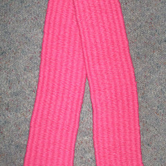 HAND WOVEN TODDLER SCARF - pink