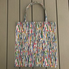Colourful paintbrushes shopping bag